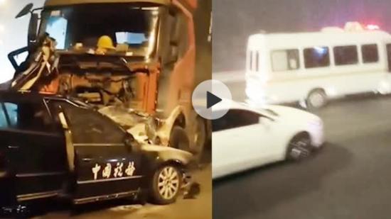 天津一重型半掛牽引車與一轎車相撞,致4人死亡