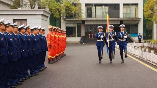 今天,贵州省消防救援总队正式挂牌成立